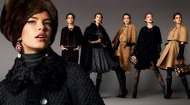 Dolce & Gabbana – płaszcze i peleryny na jesień i zimę 2012/2013