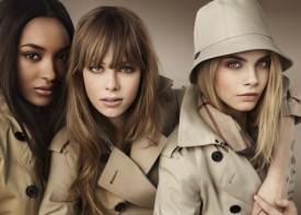 Burberry - kampania z udziałem trzech piękności