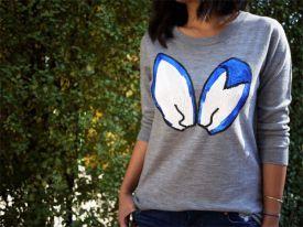 Cekinowe uszy - Swetry inspirowane kolekcją Marksa Lupfera.