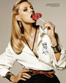 Anja Rubik w  Vogue Korea