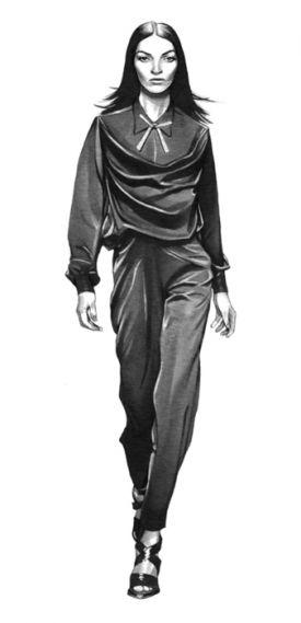 Dynamiczne ilustracje mody w odcieniu szarości - Michael Hoeweler