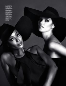 (+ 18!) Naomi Campbell & Kate Moss by Mert & Marcus for Interview Russia December/January 2012/2013