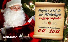 Napisz list do św. Mikołaja i wygraj! - KONKURS