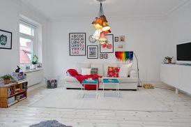 Wnętrza w szwedzkim stylu