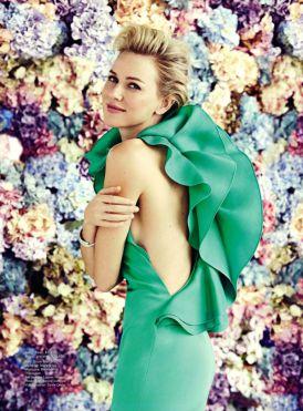 Naomi Watts dla Vogue Australia Luty 2012 - suknie, kwiaty, wiosna!