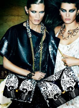 Małgosia Bela, Isabeli Fontana i Sui He w kampanii marki Roberto Cavalli | SS 2013