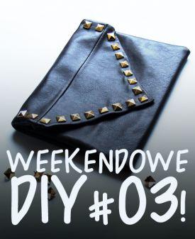 Weekendowe DIY #03! - modna kopertówka z ćwiekami!
