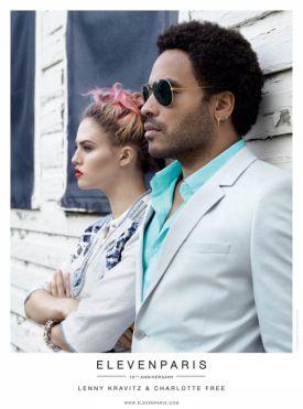 Charlotte Free i Lenny Kravitz dla 'Eleven Paris' | wiosna 2013