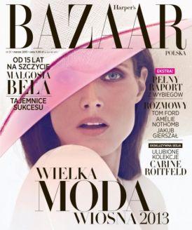 Małgosia Bela - okładkowa sesja dla Harper's Bazaar | polska edycja!