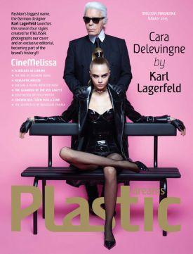 Cara Delevingne i Karl Lagerfeld dla Melissa Magazine