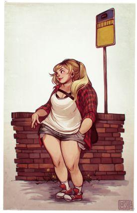 Dziewczęce ilustracje od Loish | Rysuje nawet pulchne kobiety!