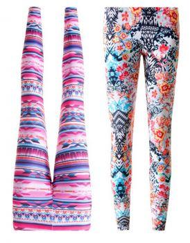 Wielobarwne legginsy od Calzedonia - coś zdecydowanie na wiosnę!