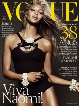 NAOMI CAMPBELL by TOM MUNRO | VOGUE BRAZIL maj 2013