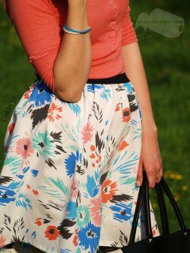 Weekendowe DIY #10 - pomysł na letnią spódniczkę, którą możesz zrobić sama! :)