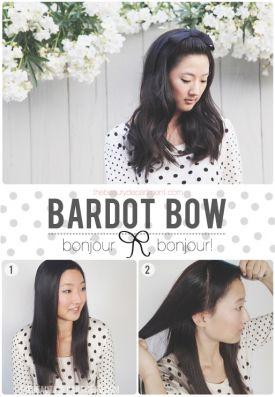 Fryzura z kucykiem w stylu Brigitte Bardot (STEP by STEP)