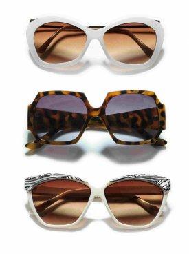 3 x przecenione okulary ZARA. Fantazyjne modele, cena - 50%!