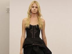 Czarne suknie ślubne u Very Wang