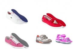 Buty dziecięce Timberland oraz Lacoste